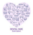 dental care poster vector image vector image