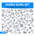 doodle icons set - repair and customizing vector image vector image