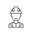 engineer industry line icon sign vector image vector image