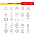 essential element black line icon - 25 business vector image vector image