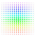 financial capital shape halftone spectral effect vector image vector image