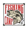 Fishing camp Hand drawn bass fish vector image vector image
