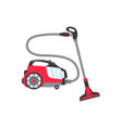 flat electronic vacuum cleaner icon vector image