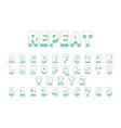 font in repeat design reto bold font alphabet in vector image