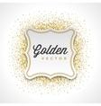 Gold Glitter Sparkles Bright Confetti White Paper vector image vector image