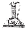 greek prochous is in an archaic vintage engraving vector image vector image