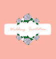 Hand Drawn Wedding Rose Banner vector image vector image