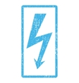 High Voltage Icon Rubber Stamp vector image vector image
