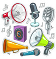icons speaker microphone and vector image