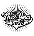 in retro style on theme new year vector image vector image