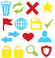 Internet icons trash bin vector image