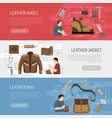 leather goods horizontal banners vector image vector image