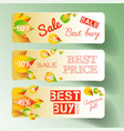 light autumn natural horizontal banners vector image vector image
