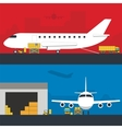 Logistics infographic banner set Flat vector image
