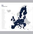map of eu european union vector image vector image