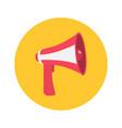 megaphone speaker loudspeaker round icon vector image vector image
