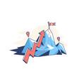mountain with arrow pointer vector image