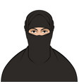 muslim veiled flat style vector image