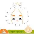 numbers game dot to dot game for children garlic vector image vector image