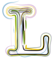 Organic Font letter l vector image vector image