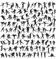 pair figure skating a set of silhouettes vector image vector image