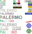 Palermo text design set vector image vector image