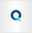 q logo letter blue symbol fresh water icon vector image vector image