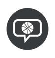 Round basketball dialog icon vector image vector image