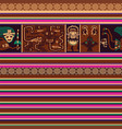 seamless pattern with peruvian motif vector image