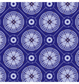 seamlessly blue floral pattern vector image vector image