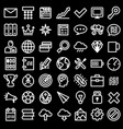 set flat icons art creative vector image