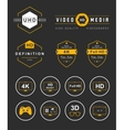 Set Icons and Badges TV and Video vector image