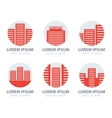 set of office building vector image vector image