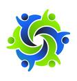 Social Friends 6 Logo design vector image vector image