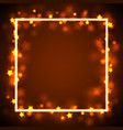 star frame border vector image vector image