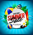 summer sale banner discount with element vector image vector image
