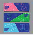 template sport layout design flat design single vector image vector image