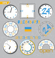 time limit deadline countdown flat design style vector image