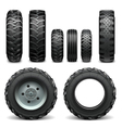 Tractor Tires vector image vector image