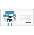 Trendy responsive webdesign technology page design vector image
