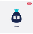 two color fodder icon from food concept isolated vector image vector image