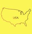 usa map flag vector image vector image