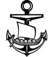 viking anchor vector image vector image