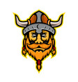viking warrior or norse raider head mascot vector image