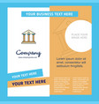 villa company brochure template busienss template vector image