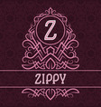 vintage label design template for zippy product vector image vector image