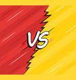 vs versus backgrounds comics style design vector image
