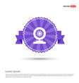 web camera icon - purple ribbon banner vector image