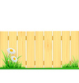 wooden fence and green grass vector image vector image