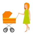 Young mother character vector image